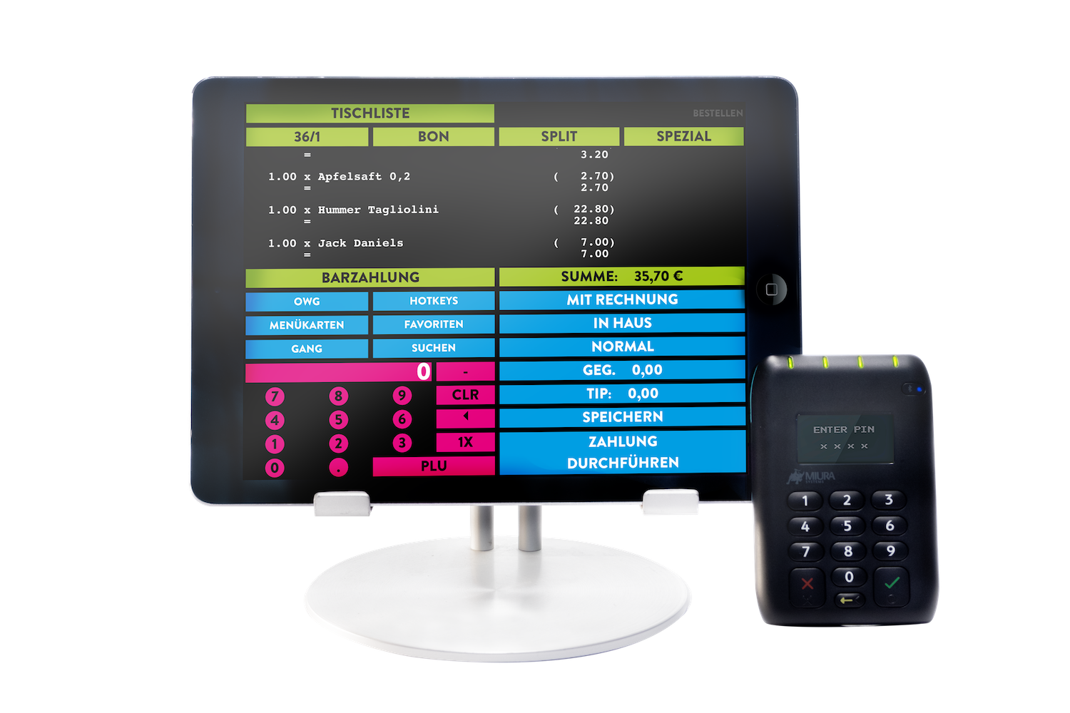 Matrix NEO! POS restaurant cash register for iOS/iPad and Android